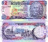 central bank of barbados 2 dollar note ...