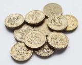 Pound sterling coins.