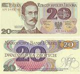 20 zł note from the third series