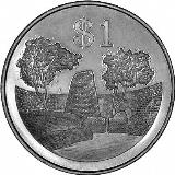 ... Ruins on Obverse of 1980 Zimbabwean Dollar